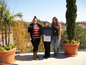 students receive certificate